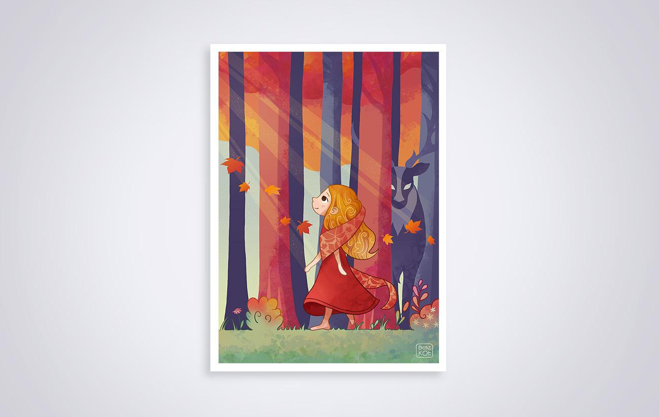 La jeune fille et l automne - Autumn girl