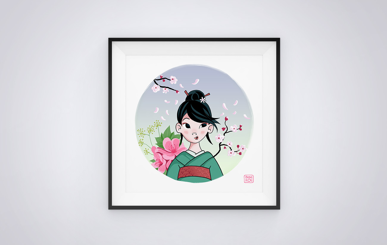 Illustration Japon et traditions - Japanese Girl