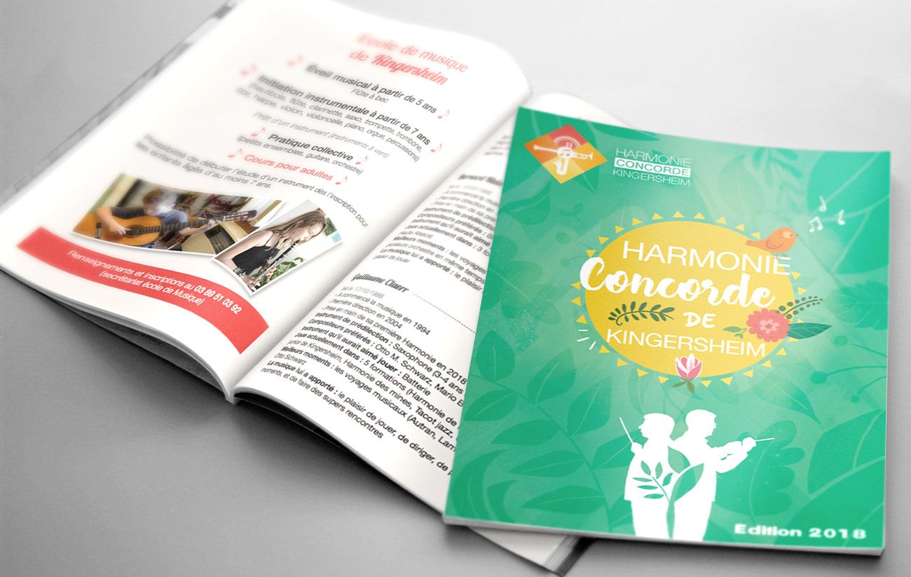 Plaquette orchestre Concorde - Orchestra leaflet