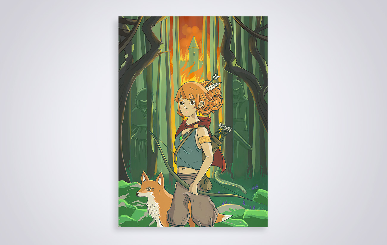 Illustration La fille de Robin des bois - Robin Hood s daughter