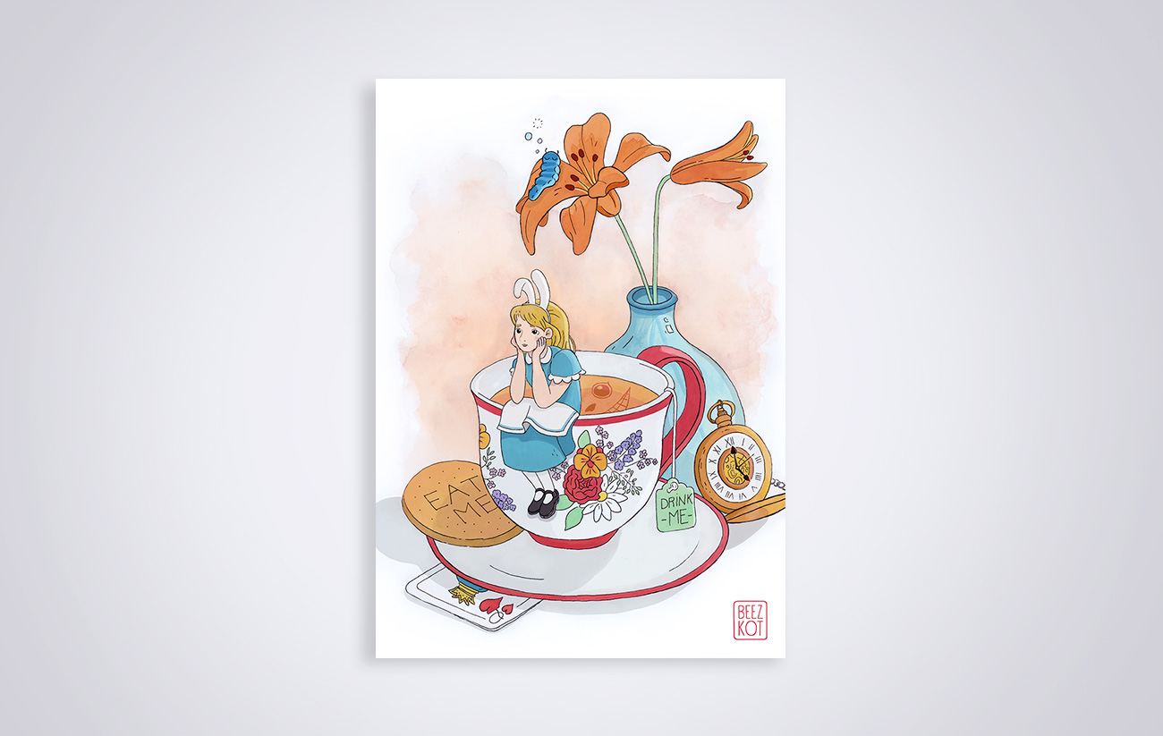 Illustration Alice in Wonderland