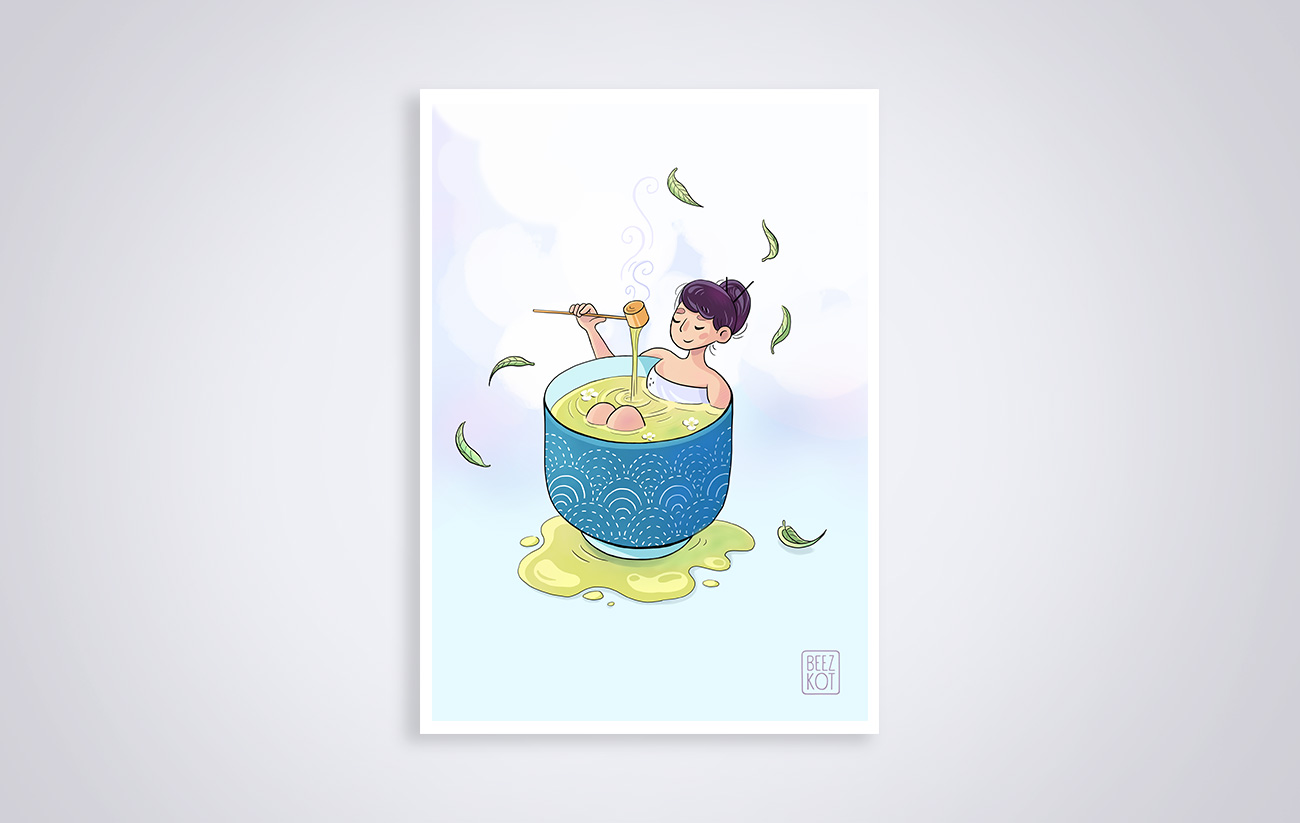 Japanese tea bath